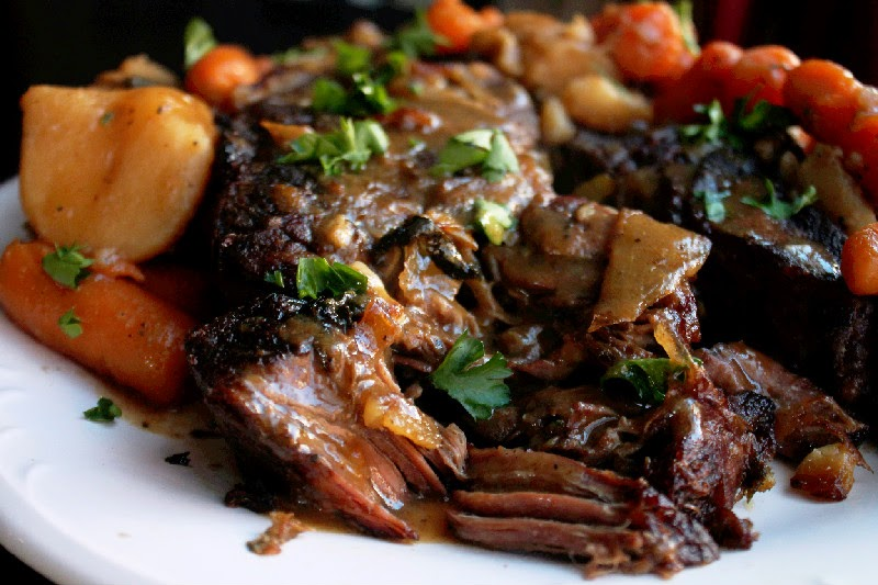 slow cooker espresso rubbed pot roast tangy slow cooker pork roast ...
