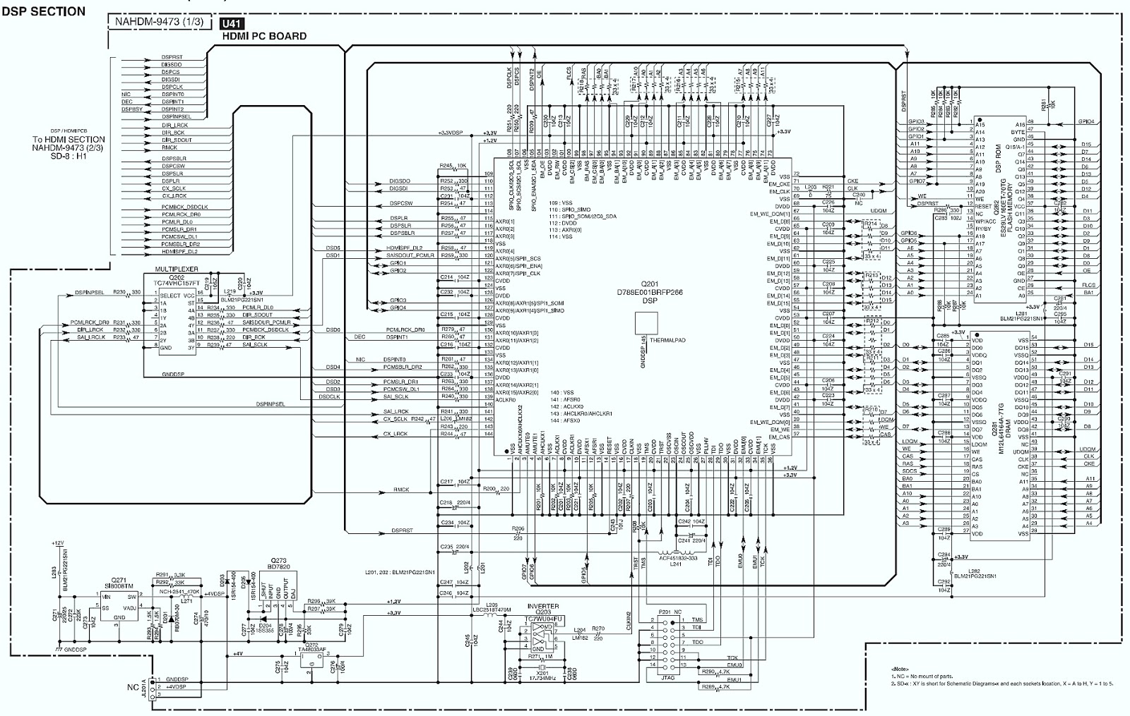 ONKYO HT-R960 7.1 CHANNEL HTR – CIRCUIT DIAGRAM | Schematic Diagrams