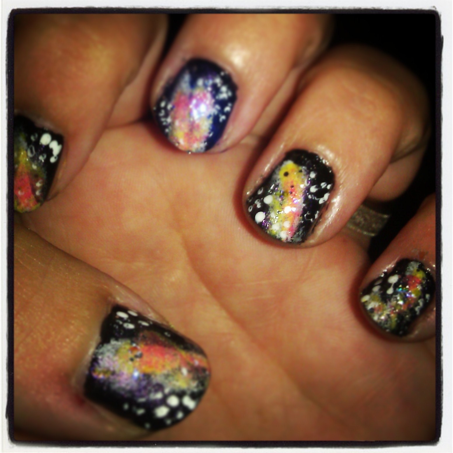girls need toilet paper: EASY Nail Art for beginners: Galaxy Nails