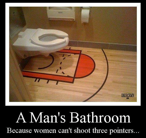 Funny Pictures and Jokes: A Man's Bathroom