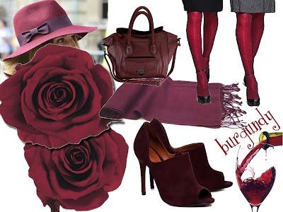 Sugestão de cor para bolsa, meia calça, chapéu, flores, sapato, eccharpes e etc.
