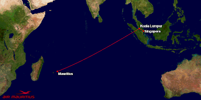 Mauritius - Kuala Lumpur - Singapore