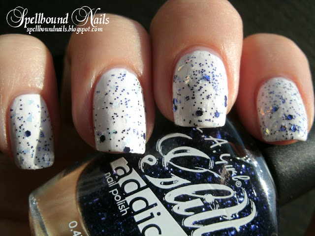 Spellbound nails nail art nailart mani manicure polish white purple A Week of Glitter China Glaze Capitol Colours Hunger Games collection