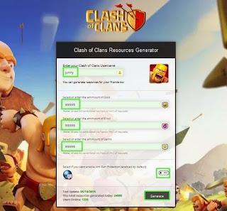 Clash of Clans Resources Generator