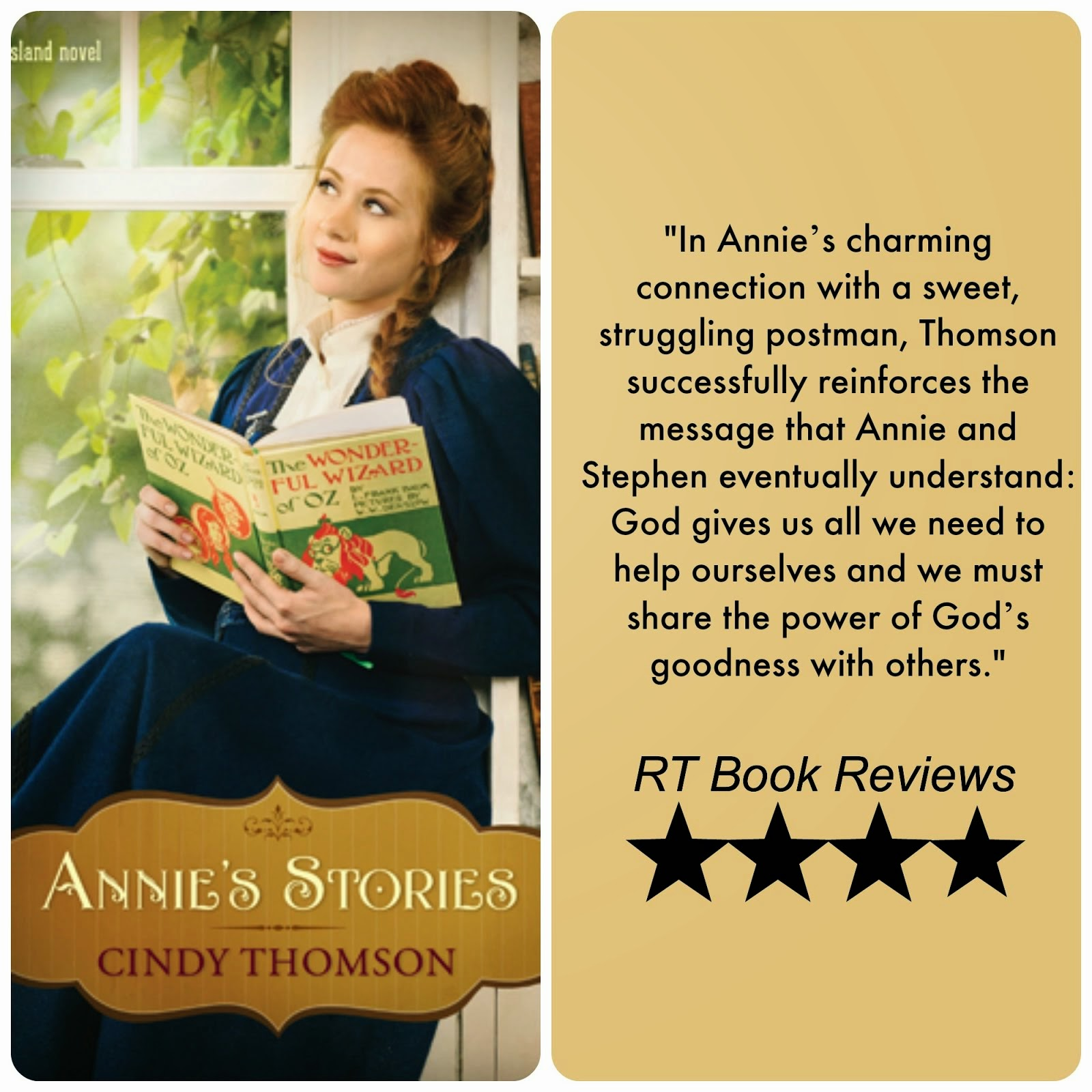 Annie's Stories RT Book Reviews Good for Book Clubs