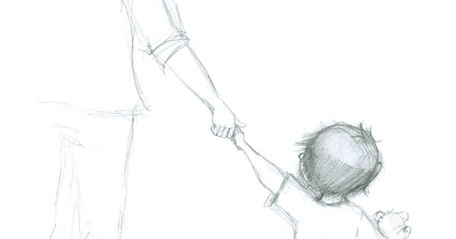 Illustration burg sarah emmanuelle prendre un enfant - Dessin main enfant ...