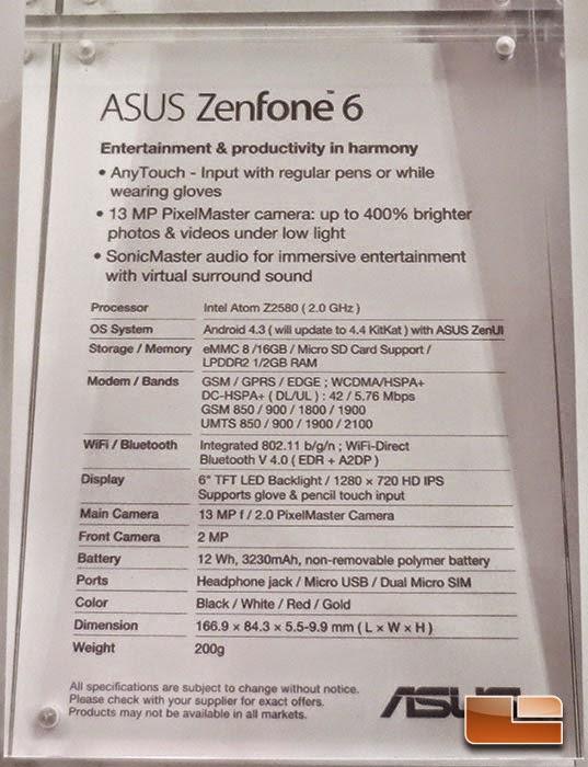 Spesifikasi Zenfone 6