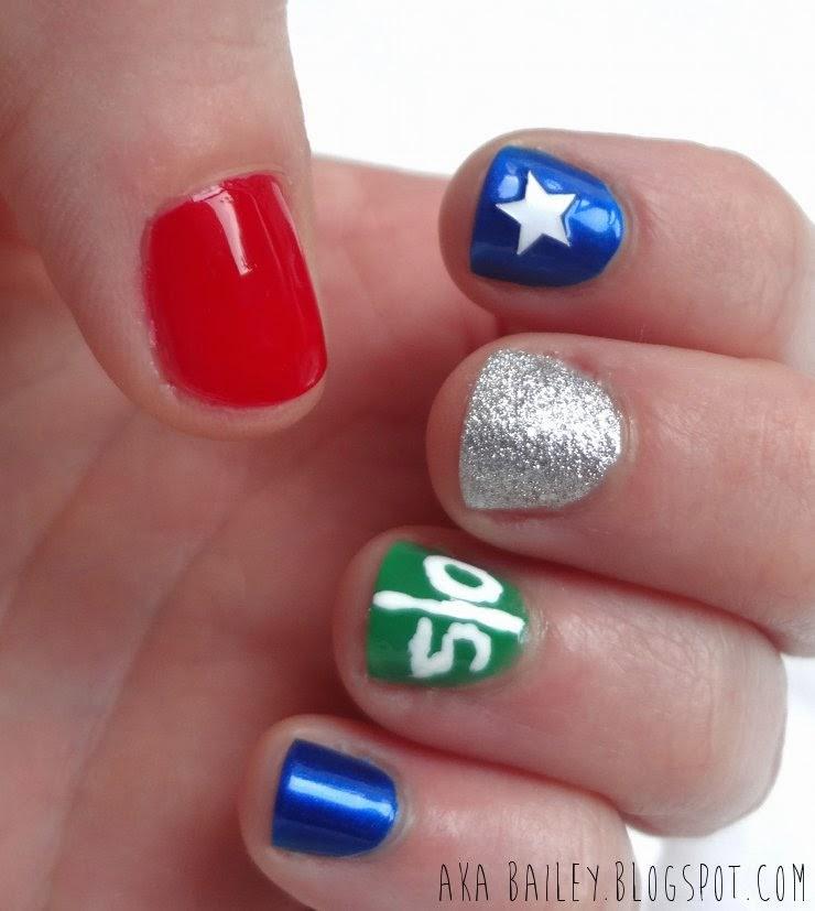 aka Bailey: Super Bowl Nails: New England Patriots!