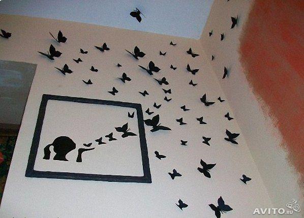 Бабочки на стену своими руками как сделать и из чего