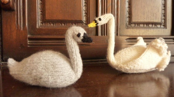 Knitted swan and signet