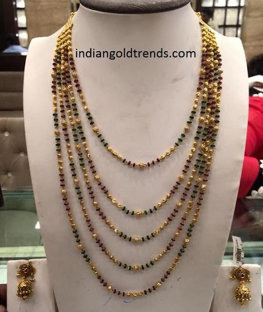 Multi Layered Black Beads necklace