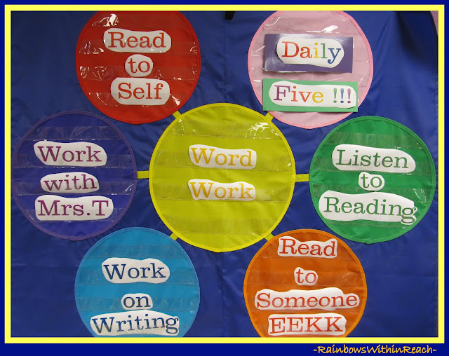 photo of: Kindergarten Bulletin Board for Daily Five (via Back-to-School Bulletin Board RoundUP: RainbowsWithinReach)
