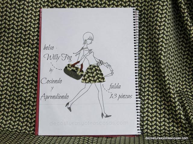 dibujo falda trece pinzas