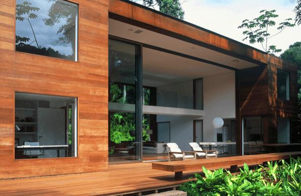 24 fachadas de casas modernas tipos de revestimentos for Casa moderna fachadas