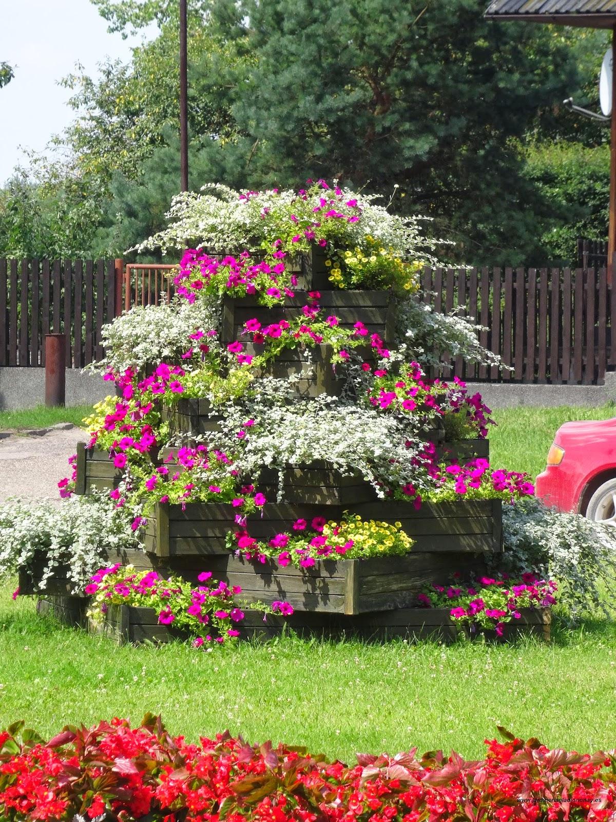 Jardineria eladio nonay jardineras de madera jardiner a - Jardineras de colores ...