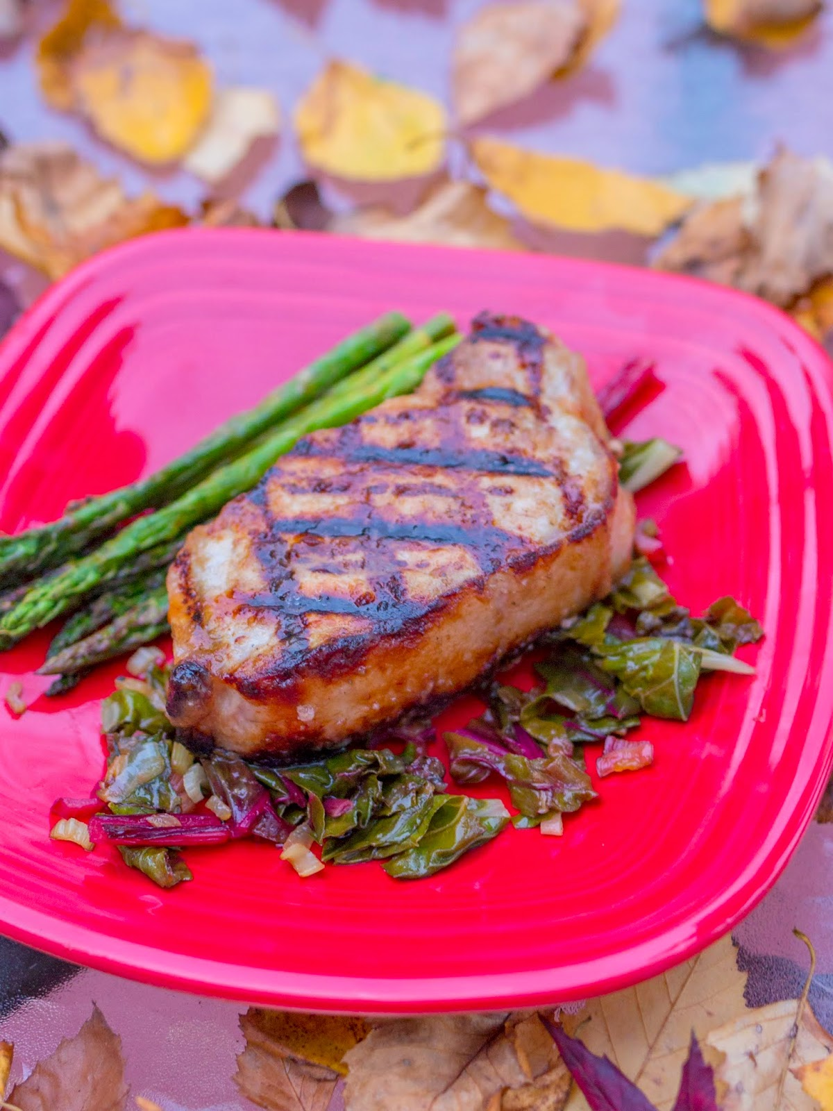 grilled boneless pork chops with apple cider brine and apple butter glaze