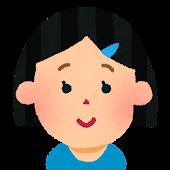 女の子の顔アイコン 2