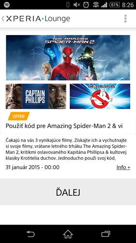 Promo Film Gratis di Xperia Z3 Berakhir 31 Januari