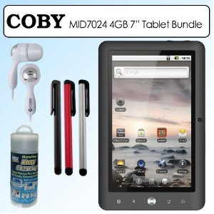 coby mid70244g kyros 7 inch internet android 4g tablet bundle