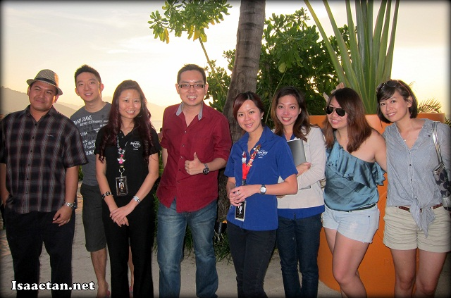 The happy group of bloggers and staff from Hard Rock Hotel Penang