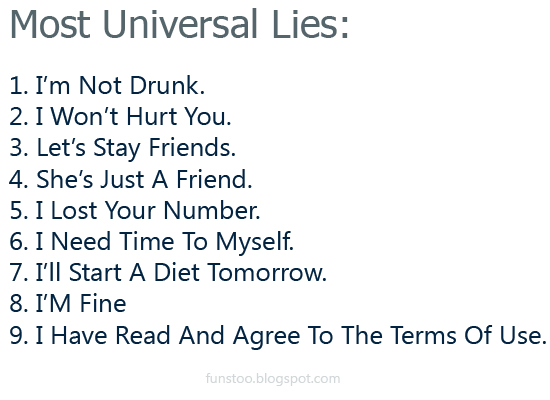 Most Universal Lies - Universal Truth