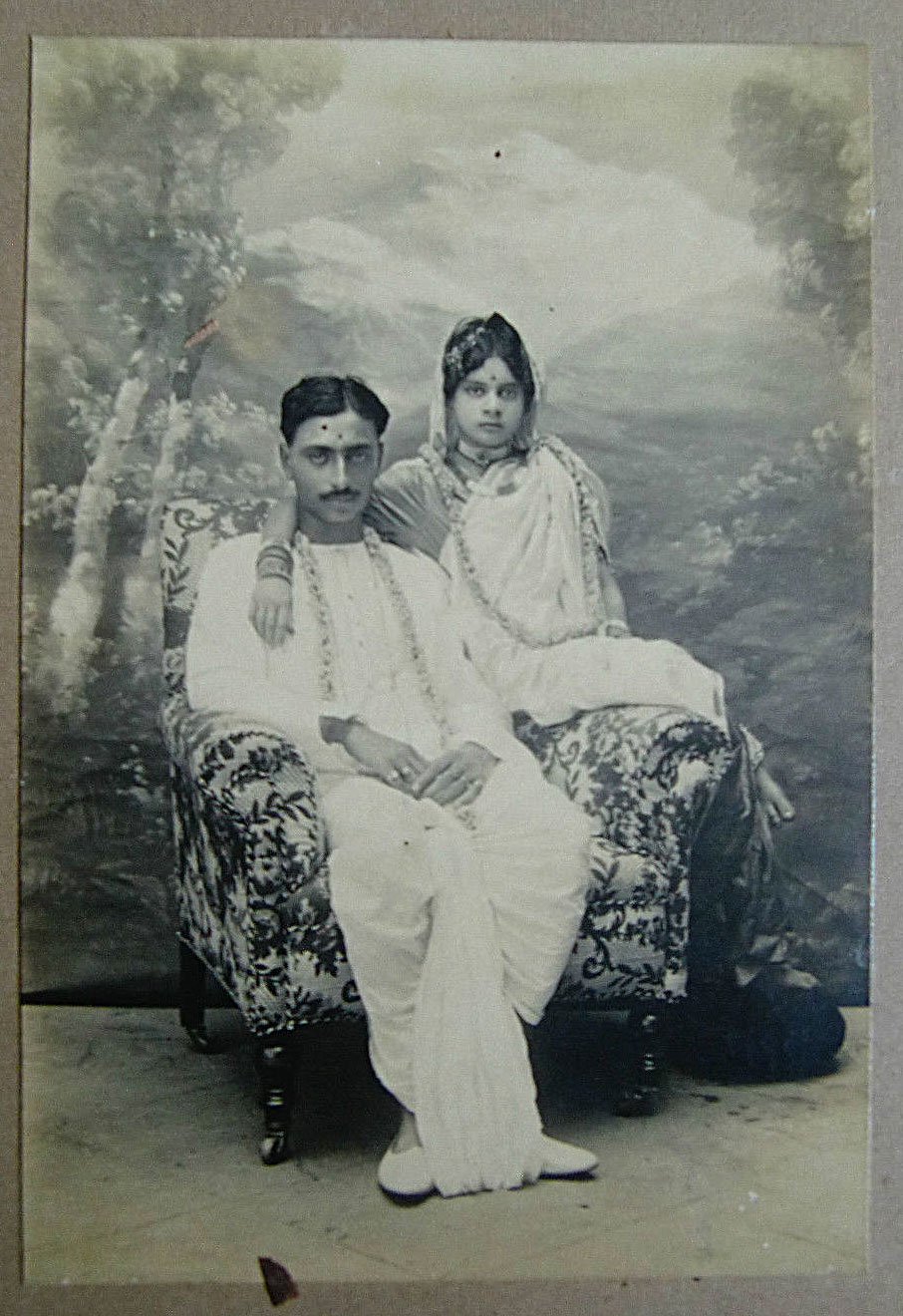 Studio Photograph of a Newly Married Couple