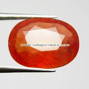 Batu Permata Orange Sapphire - 07K03