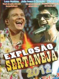 capa Explosão Sertaneja 2012 Vol.3 DVDRip