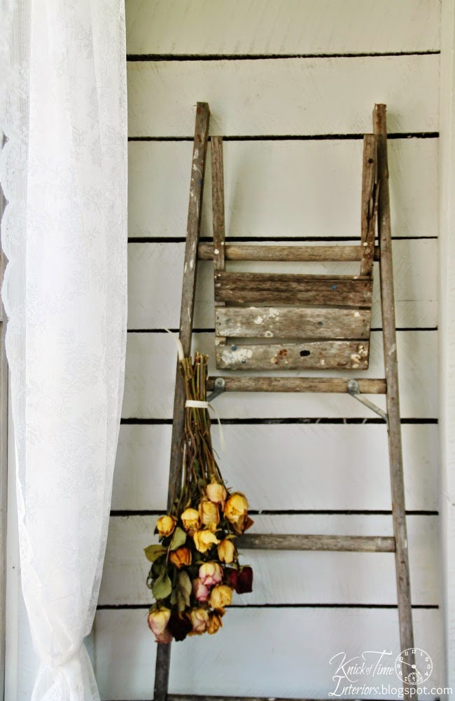 Antique Ladder Flower Drying Rack | www.knickoftime.net