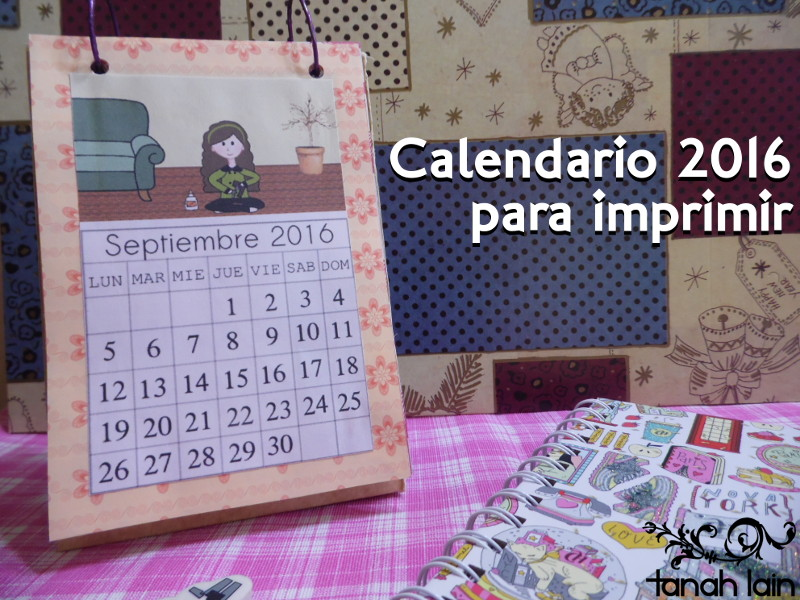 Calendario 2016 para imprimir for Calendario manualidades