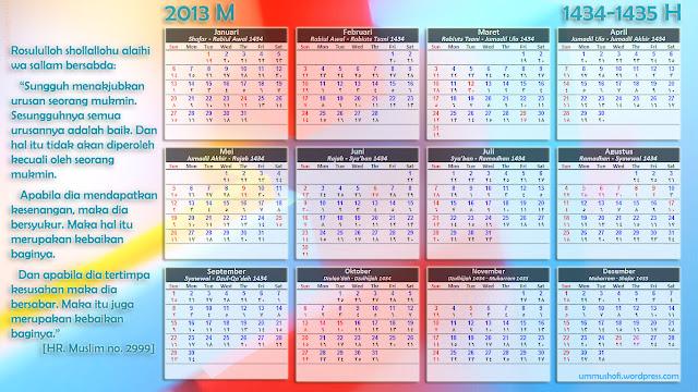 Kalender 2013 Beserta Hari Libur