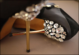 Jewelled Heels | DIY | Via Mazzini Blog