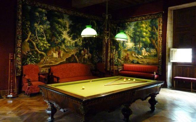 La Sala del Billar del Castillo de Azay-le-Rideau.