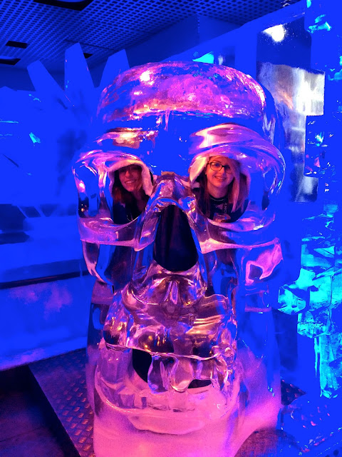 skull at the Ice Bar London