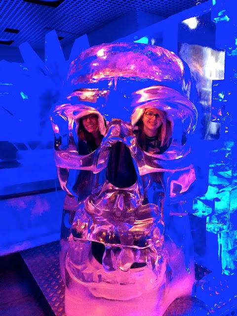 skull at the Ice Bar London