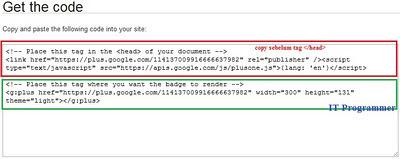 cara membuat Badges Google Plus