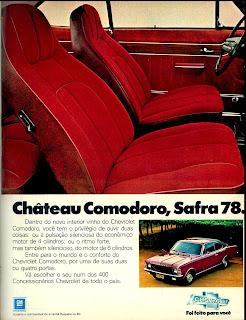propaganda Chevrolet Comodoro ano 78.  propaganda anos 70. propaganda carros anos 70. reclame anos 70. Oswaldo Hernandez..
