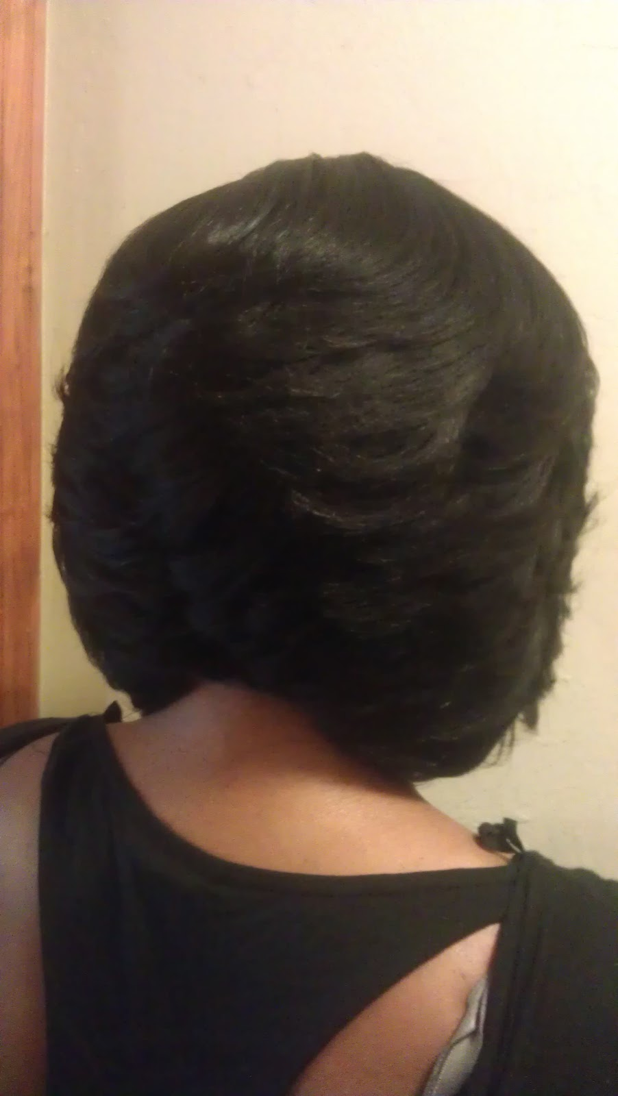 Sew In Feathered Bob Hairstyles Black Women also Feathered Bob ...