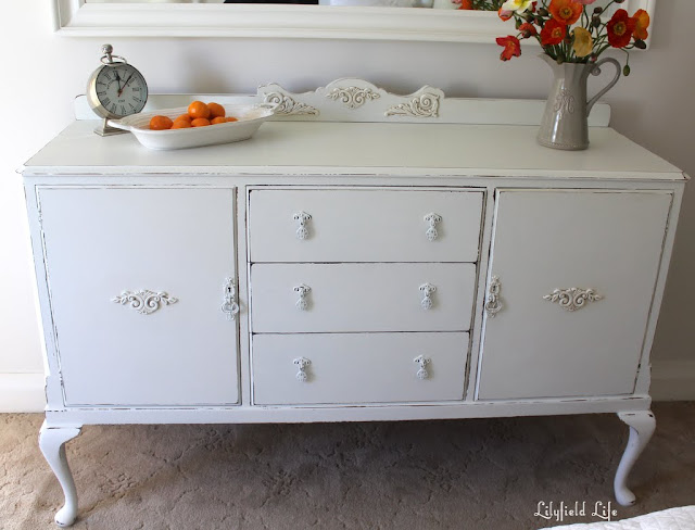 White painted sideboard french style Lilyfield Life