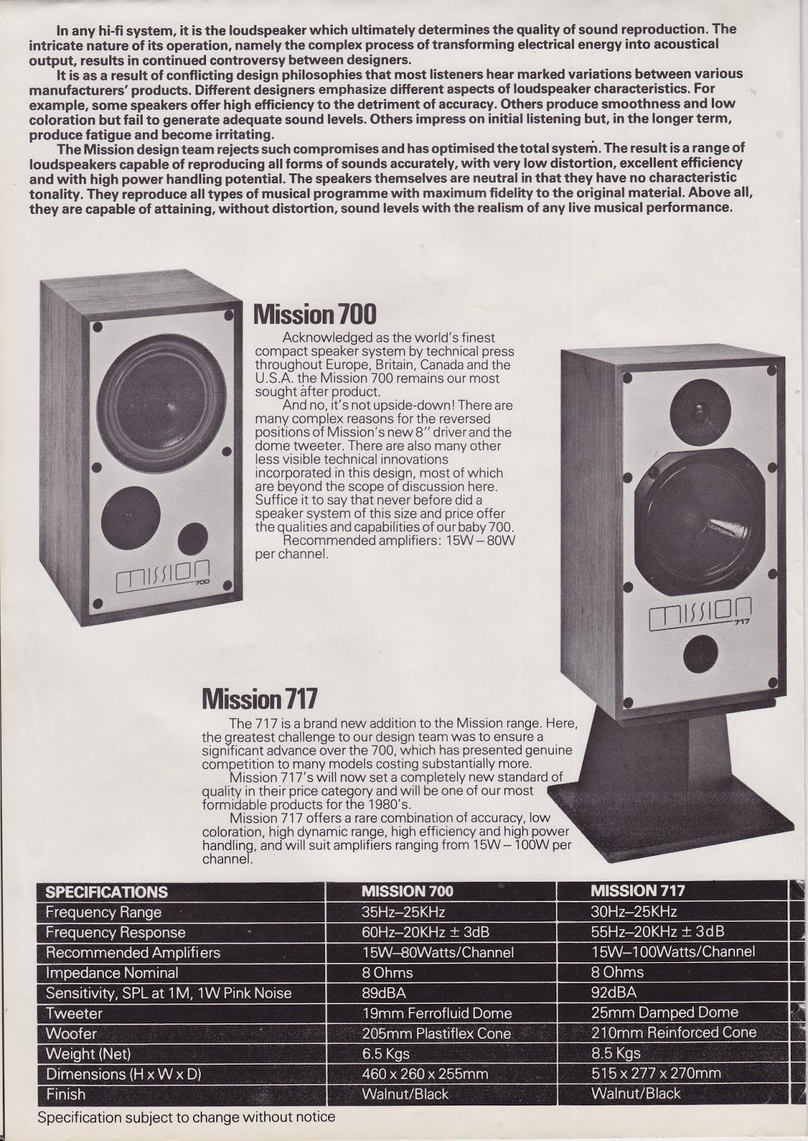 Recomendación para B&W dm602 Mission+700+brochure