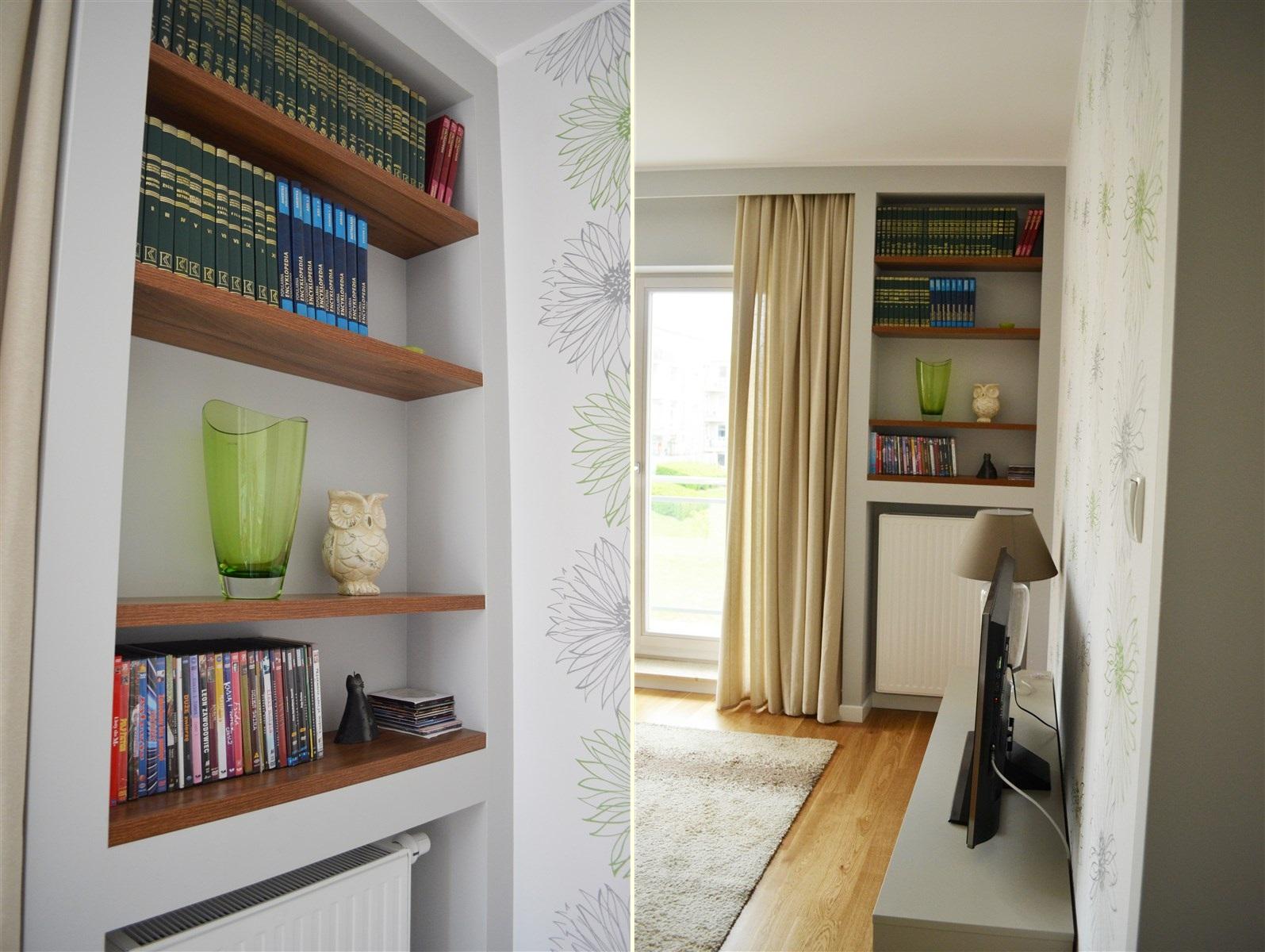 salon nowoczesny, pokój dzienny w beżach