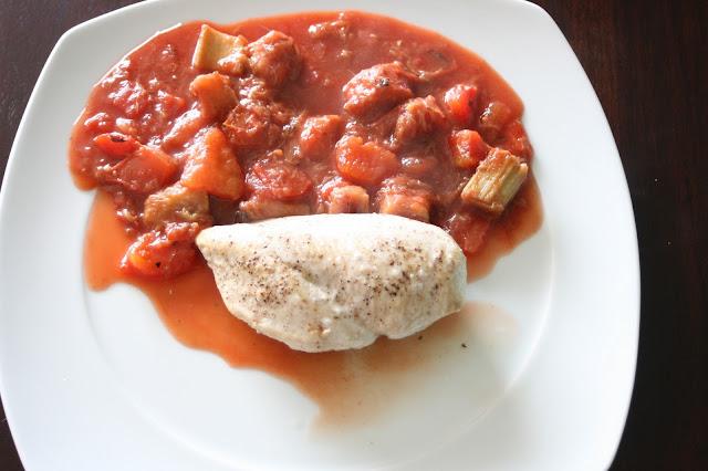 Rhabarber-Tomaten-Gemüse
