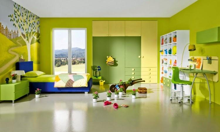 Dormitorios decorados en amarillo y verde - Dormitorios ...