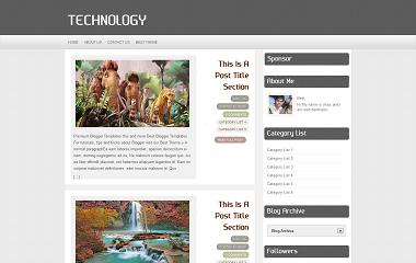 Technology Blogger Template