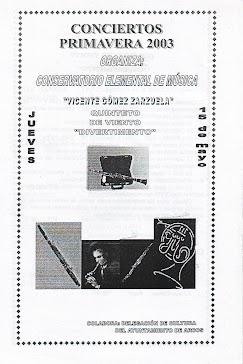 """Concierto del Quinteto """"Divertimento en Arcos de la Frontera (Cádiz)"""