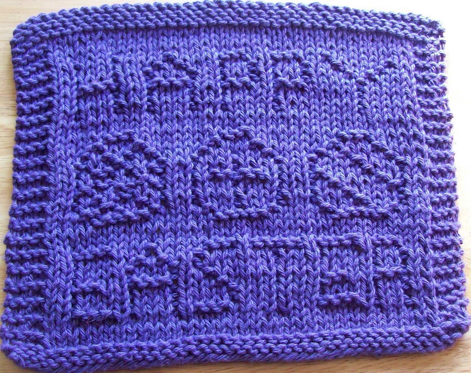Knitted Dishcloth Patterns For Easter : DigKnitty Designs: Happy Easter Knit Dishcloth Pattern