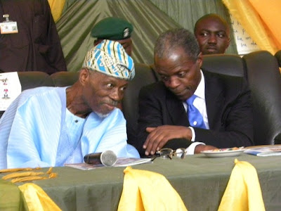 Judge Bola Ajibola, Founder, Crescent University with Prof ...