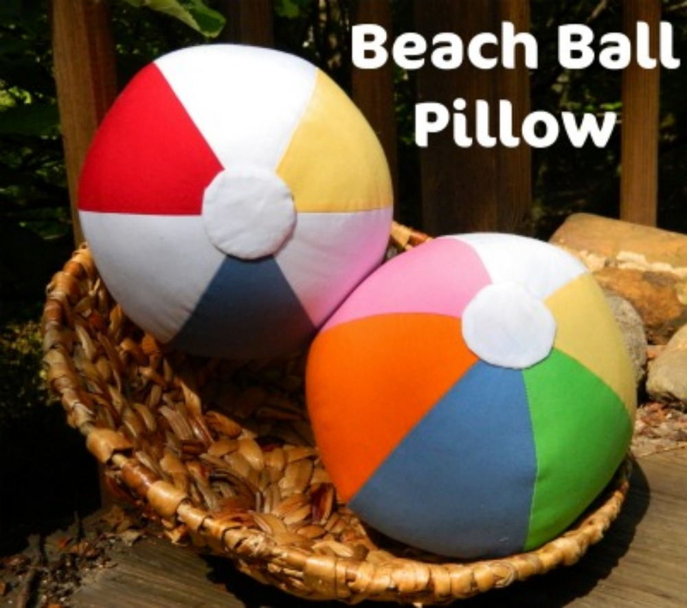 Soccer ball craft ideas -  Diy 6 Piece Beach Ball Pillow