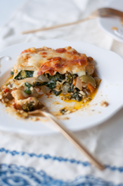 cheesy fresh vegetable lasagna