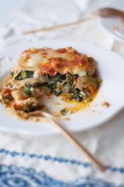 cheesy fresh vegetable lasagna